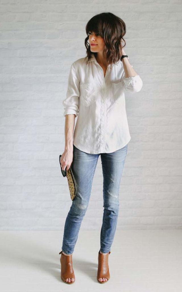 Джинсы и блузка
