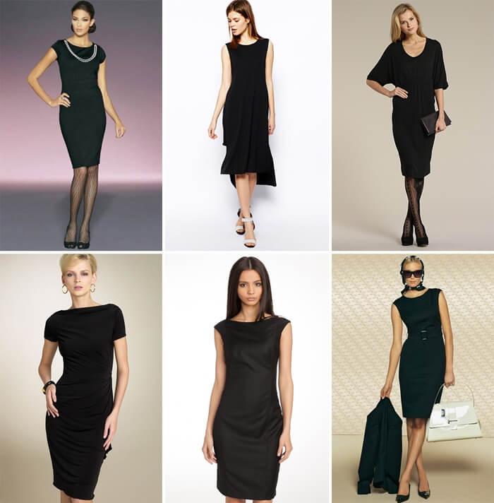 Черное платье для дамского гардероба