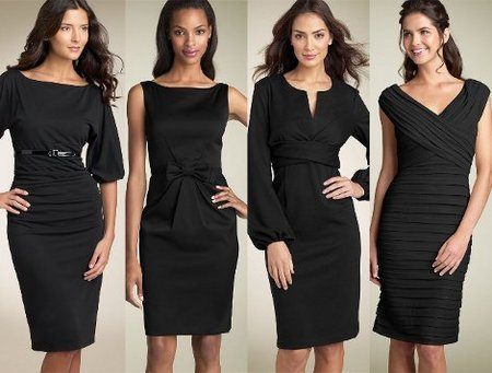Черное платье для женщин 30 +