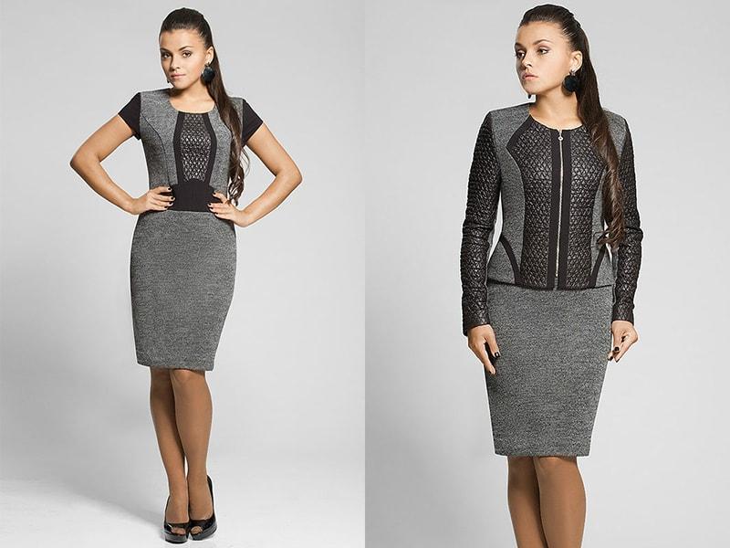 Платье-костюм офисное