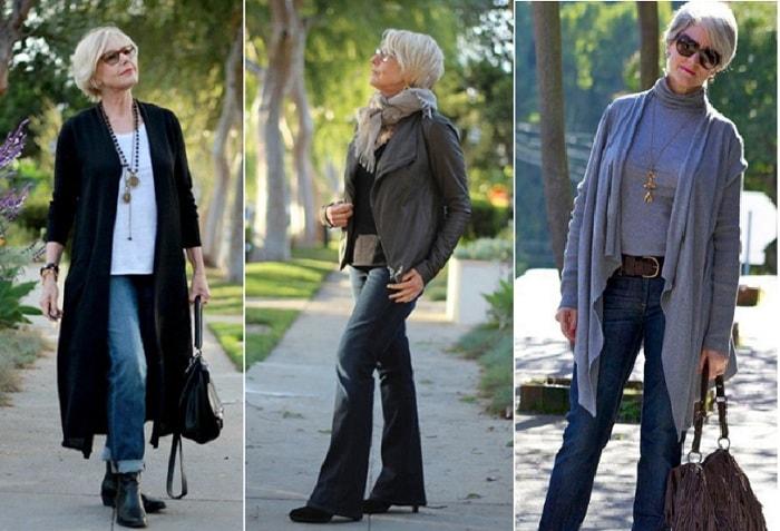 Джинсы для женщин в возрасте 50 — 55 лет