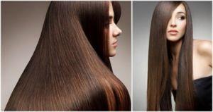 Длинные гладкие волосы
