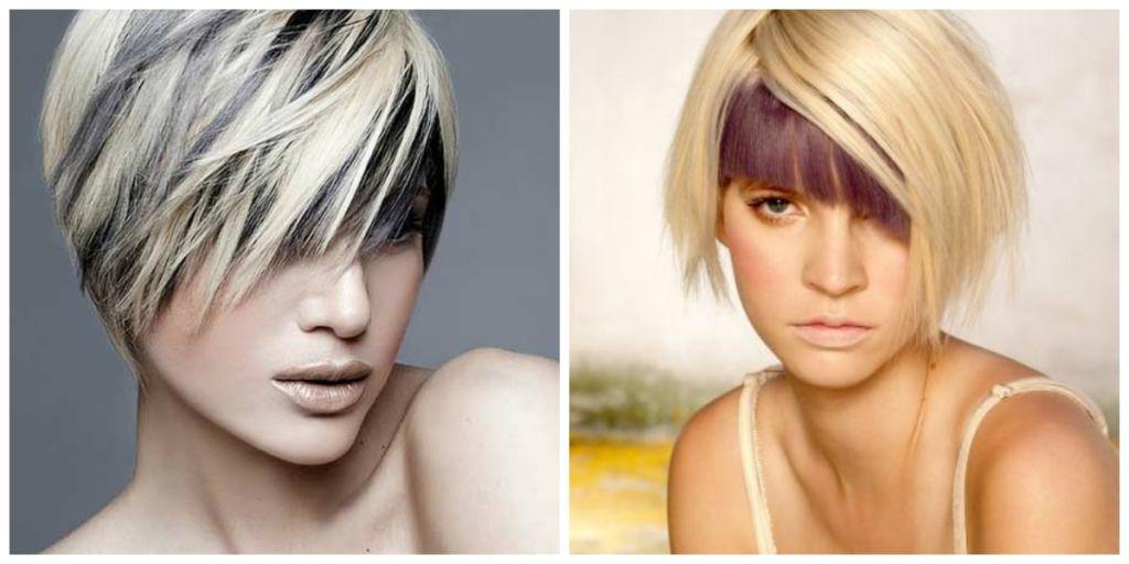 Прическа с двумя цветами волос