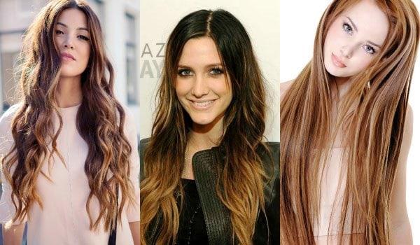 Прически с несколькими оттенков волос для женщин 30 лет