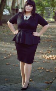 Платье-футляр для женщин с полной фигурой
