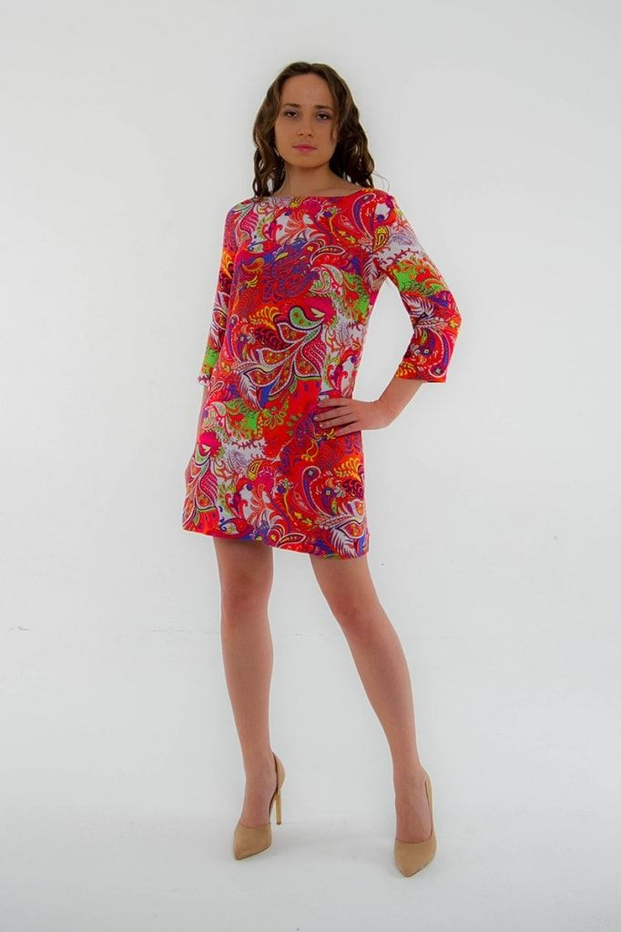 Стильное прямое платье