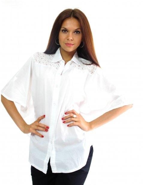 Белая рубашка разлетайка