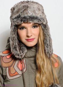 Женская-шапка ушанка
