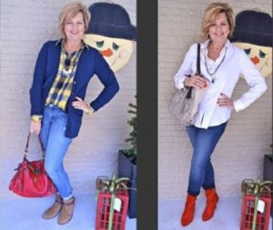 Оигинальное сочетание джинсов с одеждой