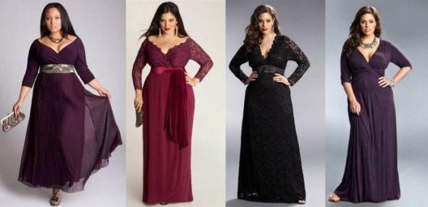 Платье для полных девушек 50 лет