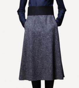 Трапециевидная юбка для девушек 50 лет