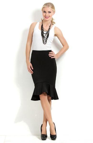 Стильная юбка с воланом для женщин 50 год