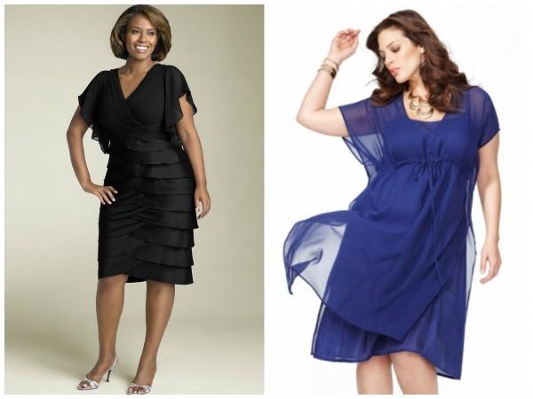 Платье из шифона для женщин 50 лет
