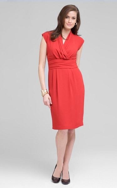 Коралловое платье для женщин после 50 год
