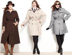 Демисезонное пальто для пышных