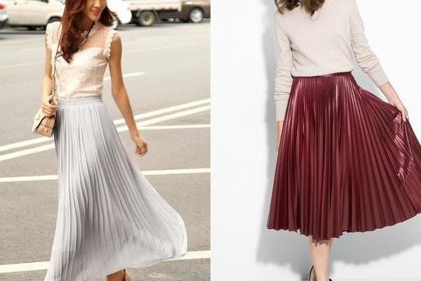 Плиссированная юбка для женщин 50 лет